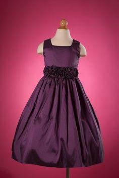 Girls Plum Taffetia Dress   for Ella maybe?