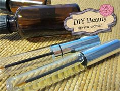 DIY eye lash growth serum - castor oil, coconut oil, almond oil, olive oil, jojoba oil can promote the growth of eyelashes because they will nourish the hair follicles. Camellia oil and vitamin E oil are also used in some of the recipes. You may combine different oils for your recipe.