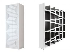 "A bookcase that ""grows with your book collection."" Designed by Rotterdam-based architect Reiner de Jong"