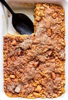 Baked Pumpkin Oatmeal, No Bake Pumpkin Pie, Baked Oatmeal Recipes, Oatmeal Cups, No Bake Oatmeal, Healthy Baked Oatmeal, Baked Apples Healthy, Baked Oats, Breakfast Recipes