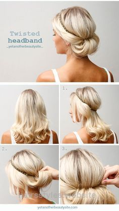 Perfect 1. Put on the headband. Try to find one that is not too tight on your head since it will then slip up easier. Don´t worry if it slips up a bit now, you will fix that later. 2. Take all o ..