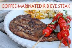 Coffee-Marinated Rib Eye Steaks -- coffee adds a mouth-watering ...