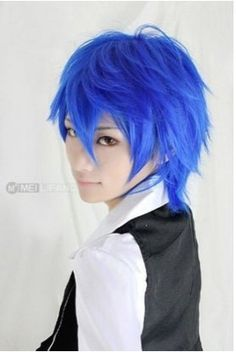 iLoveCos® Vocaloid Kaito Cosplay Blue Short Party Hair Costume Wig iLoveCos  http    e110d0dbf9fb