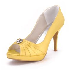 Graceful 4 Crystal Brooch  Peep-toe Pumps - Casual shoes (10 colors)