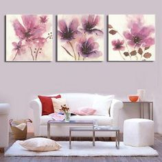 Aliexpress.com : Buy Vintage Abstract Flowers Canvas Painting Prints Hangings On Canvas Wall Art For Living Room Picture Home Decoration DF071 from Reliable flower abstract painting suppliers on Shenzhen Wenton  | Alibaba Group