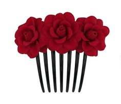 Rose Flower Hair Comb25 Colors Available