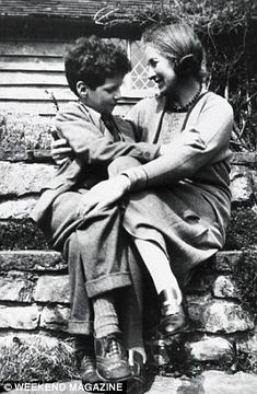 Great Dixter, Daisy with her son, a young Christopher Lloyd.......♔..