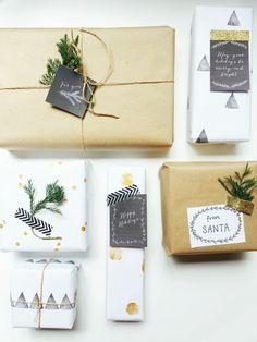 DIY Christmas Wrap via www.elkandbloom.com.au