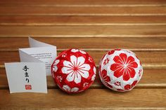 Mini Temari ball holiday gift by raboutique on Etsy