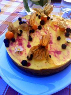 Čokoládovo-mangová RAW torta