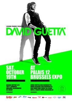 Legendz David Guetta 2013 - Brussel - Paleis 12 - Sherpa.be Tickets David  Guetta zal op zaterdag 19 oktober halt houden in Brussel in het gloednieuwe Paleis 12 van Brussels Expo en dit voor een uniek optreden in het kader van de David Guetta World Tour 2013.  http://www.sherpa.be/nlBE/Muziek/Dance/Legendz-David-Guetta-2013/