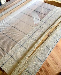 Handwoven Cotton Scarf / Cotton Boucle Scarf / Grid Plaid