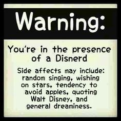 Warning: You're in the presence of a Disnerd