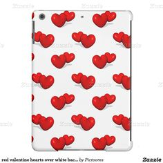 red valentine hearts over white background cover for iPad air