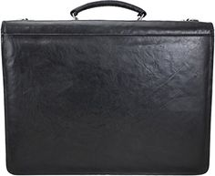 Jack George Double Gusset Flap Over Bag Sienna Collection Black