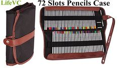 Colored Pencils HolderLifeVC 72 Pencils CaseCanvas Roll up Wrap Bag Pouch For Gen PensColored Pencils SetColored Pencils Not Included >>> Continue to the product at the image link.Note:It is affiliate link to Amazon.
