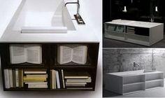 Bathtub with Storage Space  Modern Bathtub Ideas Create A Unique and Elegant Bathroom