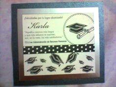 Tarjeta de Recuerdo. Graduación.
