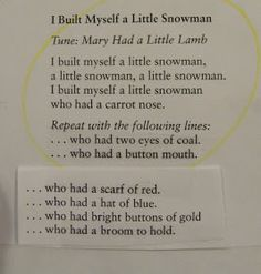 preschool snowmen