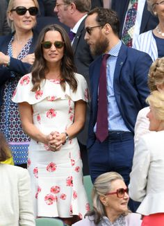 Pin for Later: Pippa Middleton Just Got Engaged, but We're Already Predicting Her Wedding Dress Will Have This 1 Detail  Wearing Suzannah to Wimbledon 2016.