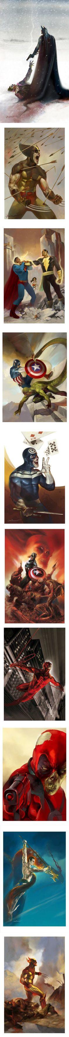 Spectacular Comic Book Illustrations