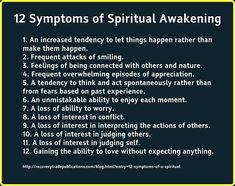 12 symptoms of spiritual awakening :)