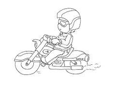 Sliekje digi Stamps: Motor biker