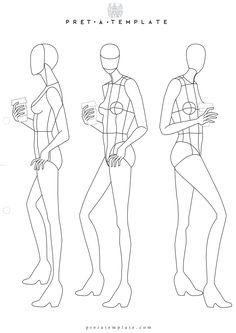 Woman body figure fashion template (D-I-Y your own Fashion Sketchbook) (Keywords: Fashion, Illustration, drawing, design, tool, App)