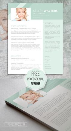 Sales Resume Template Giveaway – Humble Green Resume template, freebie