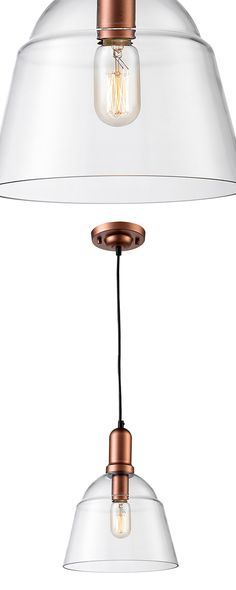 Sometimes less is truly more, as this handsome pendant delightfully proves. Made with a gorgeous glass shade and sleek copper-finished steel hardware, this Hartford Pendant Light boasts a cool, clean s...  Find the Hartford Pendant Light, as seen in the Cozy Cabin in Vermont Collection at http://dotandbo.com/collections/cozy-cabin-in-vermont?utm_source=pinterest&utm_medium=organic&db_sku=114784