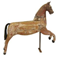 antique wooden horse . . .