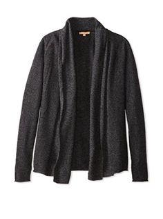 Kier & J Women's Sweater Waterfall Cardigan (Ecaille)