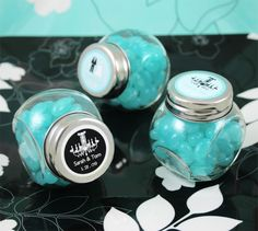 Personalised Wedding Theme Candy Jar Favours