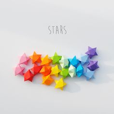 cut and fold paper stars (tutorial and templates) ~ i kind of just make these…