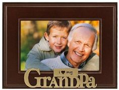 Malden I Heart Brass Word Grandpa Picture Frame, 4-Inch by 6-Inch: Christmas Gifts