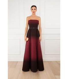 Boutique 1 - Strapless Degrade Gown