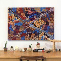 Helen Nampijinpa Robertson, Ngapa Jukurrpa -  Puyurru, 107x76cm - Art Ark…