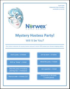 Norwex Approved Image. Mystery Hostess Party