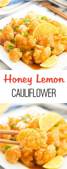 Honey Lemon Cauliflower. A quick and easy weeknight meal!