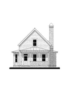 May Fair Cottage (variation) House Plan Design from Allison Ramsey Architects Coastal House Plans, Cabin House Plans, Southern House Plans, Dream House Plans, Modern House Plans, Small House Plans, House Floor Plans, Southern Cottage, River Cottage
