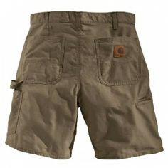 Carhartt Men's Canvas Cell Phone Work Short - Light Brown - Mills Fleet Farm