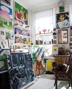 One Bedroom Has Become An Art Studio For David On Design*Sponge