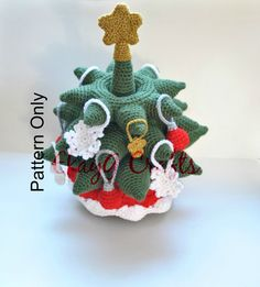 Christmas Tree Stacking Rings Crochet Pattern by EkayG on Etsy