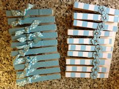 Perfect Baby+shower+favors+clothespins+Donu0027t+say+baby+Gift+by+BugsNTails,+$12.50 |  BShower | Pinterest | Shower Favors, Favors And Babies