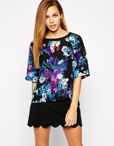 Girls on Film Box Top in Floral