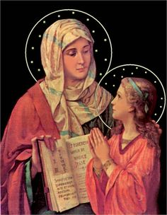 Santa Ana e a Virgem Maria.