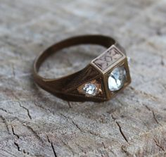 Vintage Brass/Gold Men's Ring by Gener8tionsCre8tions on Etsy, $125.00