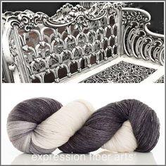 Expression Fiber Arts - DISTRESSED BENCH YAK SILK LACE YARN, $39.00 (http://www.expressionfiberarts.com/products/distressed-bench-yak-silk-lace-yarn.html)