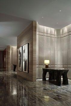Park Hyatt New York / Yabu Pushelberg - Wandgestaltung Interior Exterior, Interior Architecture, Lobby Interior, Home Decoracion, Modern Hallway, Lobby Design, Hotel Interiors, Hospitality Design, Commercial Interiors