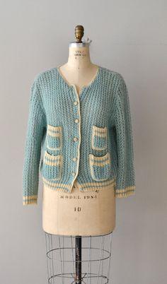 Lamballe wool cardigan / wool 1950s cardigan / by DearGolden, $58.00